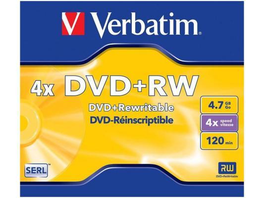 Диск DVD+RW 4.7Gb Verbatim 4x Jewel <43229\\246> цена