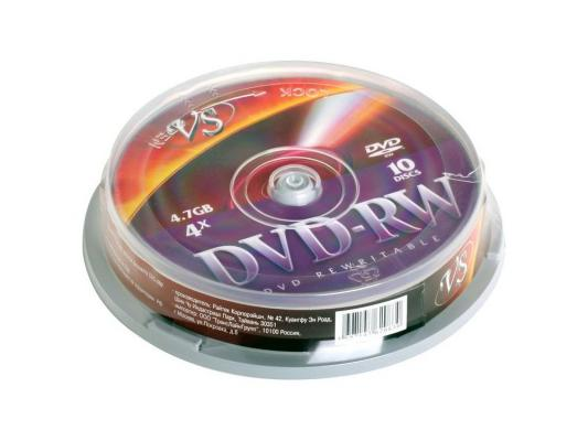 ����� DVD-RW 4.7Gb VS 4� 10 �� Cake Box