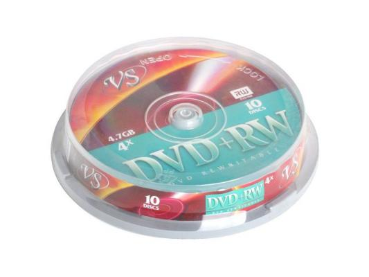 ����� DVD+RW 4.7Gb VS 4� 10 �� Cake Box 62063