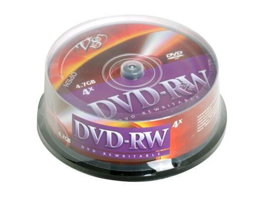 Диски DVD-RW 4.7Gb VS 4х 25 шт Cake Box