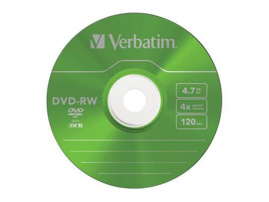 Диск DVD-RW 4.7Gb Verbatim 4x Slim color (43563) 5шт оптический диск dvd rw диск verbatim 4 7gb 4x 5шт slim case color 43297