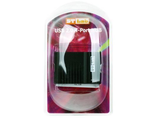 Концентратор USB 2.0 STlab U271 4 x USB 2.0 черный цены