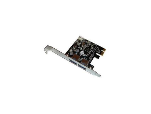 Контроллер Orient NC-3U2PE PCIe to 2 port USB 3.0, допольнительный разъём питания, Nec, re звуковая карта orient au 01n 3 5mm jack to usb
