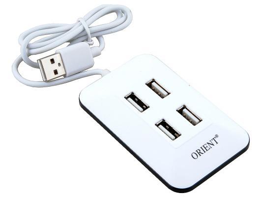 Концентратор USB 2.0 ORIENT MI-430 4 x USB 2.0 белый