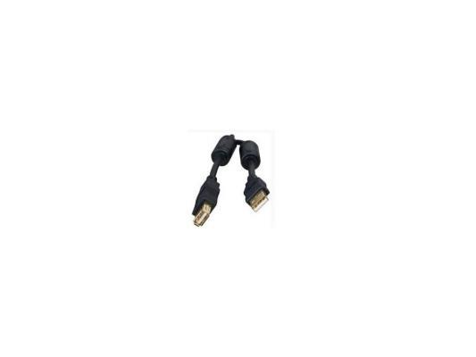 Кабель удлинитель USB 2.0 AM/AF 1.8м Gembird, феррит.кольцо, черный, CCF-USB2-AMAF-6