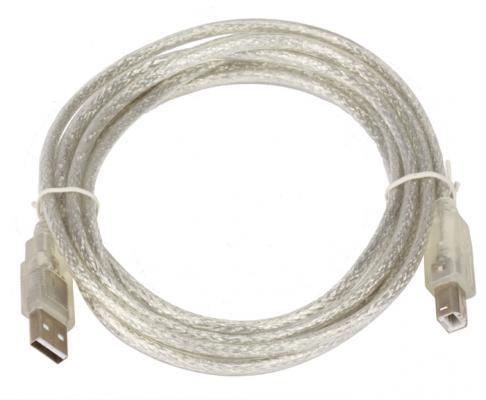 Кабель USB 2.0 AM/BM 3m Telecom прозрачная изоляция (VUS6900)