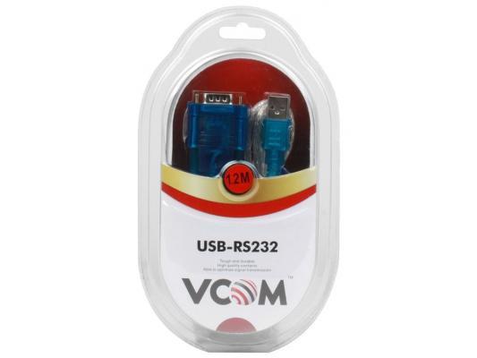 Кабель-переходник USB 2.0 AM-COM 9pin VCOM VUS7050 1.2м ZE394 1.5 М new pws6a00t n hitech beijer hmi tft lcd 10 4 inch 640 480 ethernet 2 usb host 3 com 1y warranty