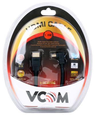 Кабель Vcom HDMI 19M/M-угловой коннектор 1.8м, 1.4V позолоченные контакты <VHD6260D-1.8MB> Blister