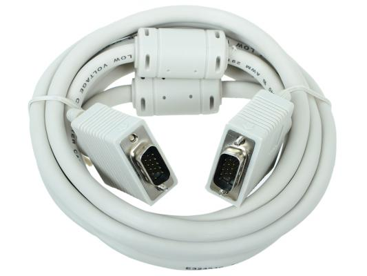 Кабель VGA Premium Gembird, 3.0м, 15M/15M, тройн.экран, феррит.кольца, пакет CC-PPVGA-10 кабель vga premium gembird 1 8м 15m 15m тройн экран феррит кольца пакет cc ppvga 6