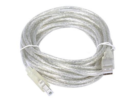 все цены на Кабель USB 2.0 AM/BM 5m Telecom прозрачная изоляция (VUS6900T-5MTP)