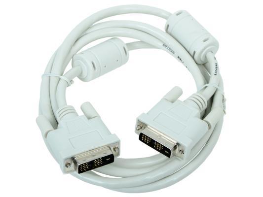 Кабель DVI-D single link Gembird, 1.8м, 19M/19M, экран, феррит.кольца, пакет