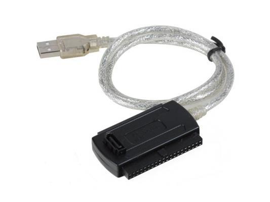 """Кабель-адаптер USB 2.0 AM <-> SATA/IDE (2.5""""/3.5"""") , внешний БП, Vcom <VUS7056>"""