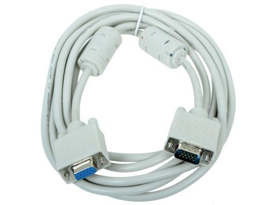 Кабель удлинит. VGA Pro Gembird, 3.0м, 15M/15F, экран, феррит. кольца, пакет CC-PVGAX-10 кабель удлинитель vga 3 0м gembird vga ext 2 фильтра cc pvgax 10 e vga x l 3 05м