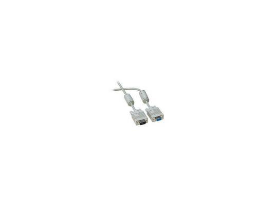 Кабель удлинит. VGA Premium Gembird, 1.8м, 15M/15F, тройн.экран, феррит.кольца, пакет CC-PPVGAX-6