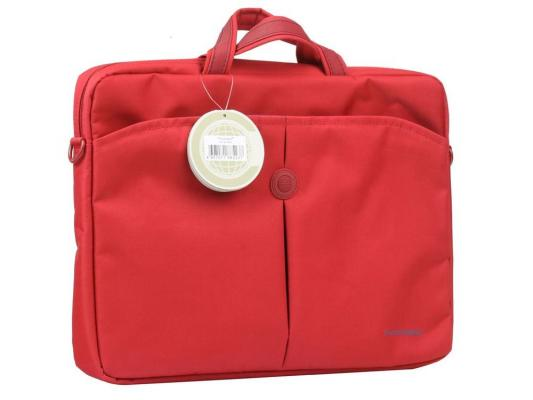 "Сумка для ноутбука 10"" Continent CC-010 Cranberry нейлон красный цена и фото"