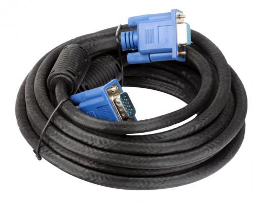 Кабель удлинительный Монитор-SVGA card (15M-15F) 5m, 2 фильтра Vcom <VVG6460-5M>