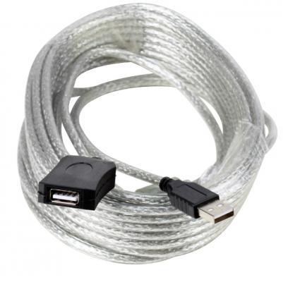 Кабель удлинитель активный(с усилителем) USB2.0-repeater,  AM/AF 10м Aopen<ACU823-10M>