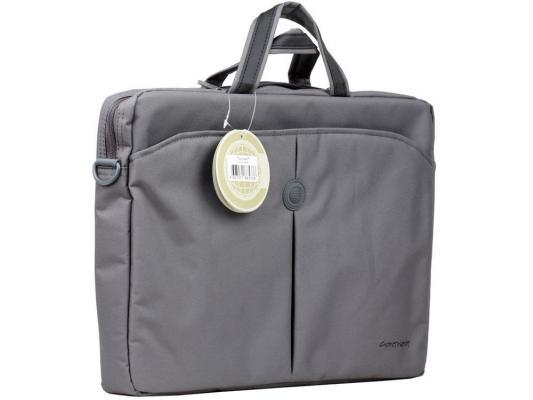 Сумка для ноутбука 15 Continent CC-01 Gray нейлон сумка для ноутбука 15 continent cc 101 black нейлон