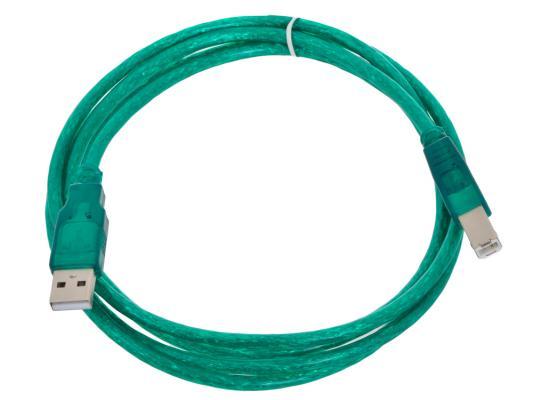 Кабель USB 2.0 AM-BM 1.8м Aopen ACU201-1.8MG кабель aopen hdmi 19m m 1 4v 3d ethernet aopen