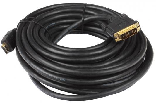 Кабель Telecom HDMI to DVI-D (19M -19M) 10м , с позолоченными контактами аксессуар vcom dvi d 25f to hdmi 19m vad7819