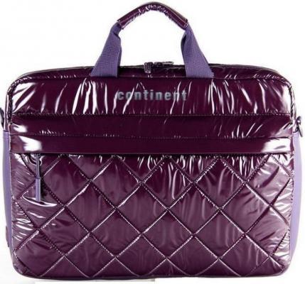 """Сумка для ноутбука 15.6"""" Continent CC-072 Purple полиэстр цена и фото"""