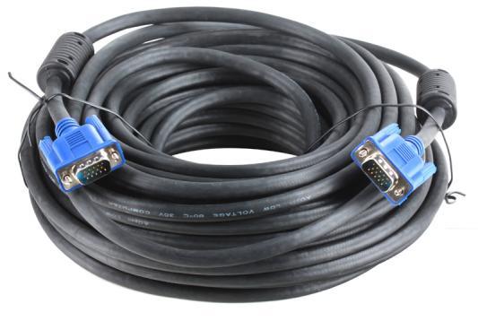 Кабель AOpen <ACG341AD-20M> монитор-SVGA card (15M-15M) 20м 2 фильтра кабель vga aopen acg341ad 15m acg341ad 15m