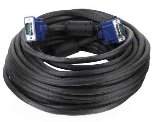Кабель монитор-SVGA card (15M-15M) 15м 2 фильтра Vcom <VVG6448-15M>