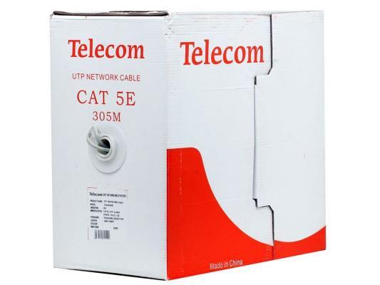 """Кабель """"Telecom Ultra"""" Light UTP 2 пары кат. 5е (бухта 305м) омедненный TUS 42040E\\42048E\\62040E"""