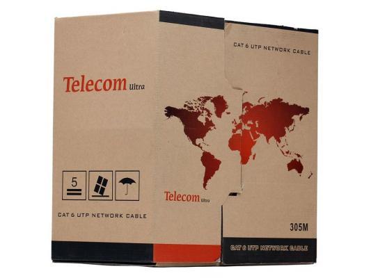 """Кабель """"Telecom"""" Ultra Pro UTP кат. 6 (бухта 305м)  TU634057  (Омедненный)"""
