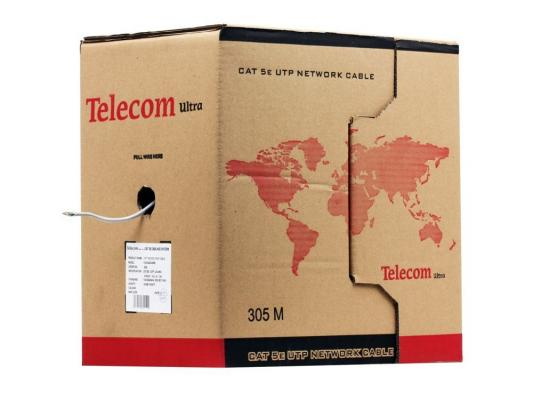 "Кабель ""Telecom Ultra"" Base  UTP 2 пары кат. 5е (бухта 305м) омедненный  TUS 42048"