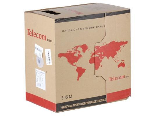 Кабель Telecom Ultra UTP кат.5е многожильный (бухта 305м) p/n: TUM34702E кабель питания для ноутбуков 3 0м vcom telecom ce022 cu0 5 3m