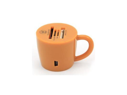 Карт-ридер USB 2.0 Konoos UK-24, 4 разъема для карт памяти (SD/SDHC/MMC/microSD/MS/M2), блистер