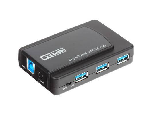 Концентратор USB 3.0/2.0 Hub ST-Lab U-770, 7 Ports (3xUSB 3.0 + 4xUSB 2.0), Black, P/a, Ret концентратор usb st lab u 710 pci e x1 2 ext usb 3 0 ret