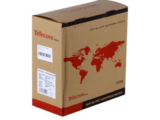 Кабель Telecom Ultra UTP 4 пары кат.5е (бухта 100м) p/n:TUS44148E кабель питания для ноутбуков 3 0м vcom telecom ce022 cu0 5 3m