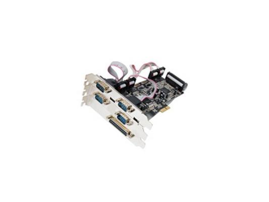 Концентратор USB ST-Lab i461 PCI-E x1 5 ext (4xCOM+ 1x LPT ) ,Retail