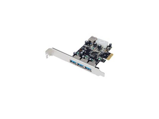Концентратор USB ST-Lab U750 PCI-E 3 ext(USB 3.0)+ 1 int (USB 3.0), Retail