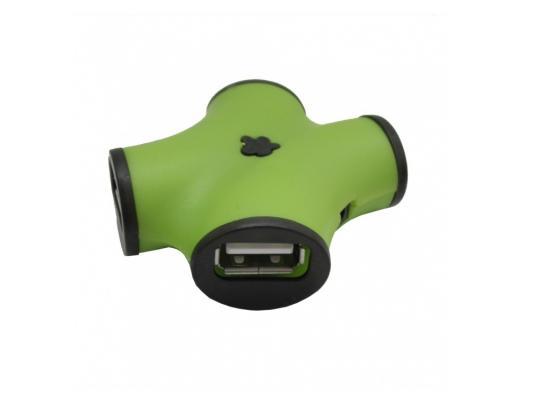 Концентратор USB 2.0 CBR CH-100 4 x USB 2.0 зеленый