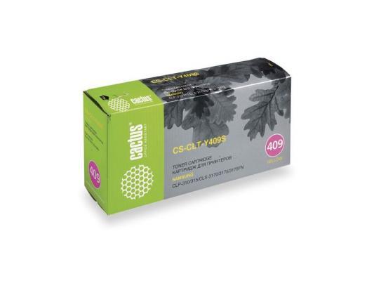 цена  Тонер-картридж Cactus  CS-CLT-Y409S для принтеров Samsung CLP-310/315; CLX-3170/3175/3175FN, желтый, 1000 стр. (CSCLTY409S)  онлайн в 2017 году