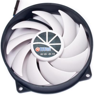 Вен-тор Titan TFD-9525H12ZP/KU(RB) Kukri 900-2600rpm 92x92x25 (z-axis) PWM вентилятор titan tfd 9525h12zp ku rb