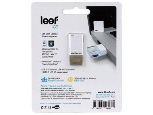 Внешний накопитель 32GB USB Drive <USB 2.0> Leef ICE White прозрачный все цены