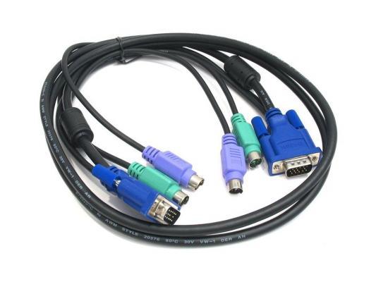 Комплект кабелей D-Link DKVM-CB5 для DKVM - 2хPS/2,1xVGA, 5м