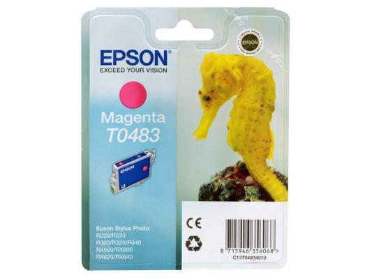 Картридж Epson Original T048340 (красный) для ST Photo R300/R300ME/ картридж epson st photo c13t00740210