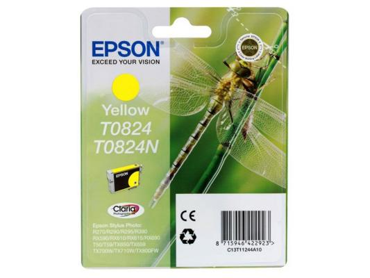 Картридж Epson Original T08244A (желтый) для R270/390/RX590 (C13T11244A10) картридж superfine r270 желтый