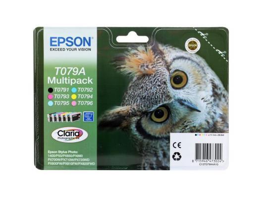 Картридж Epson Original T079A4A10 комплект для P50/PX660 картридж epson original t08064011 светло пурпурный для p50 px660