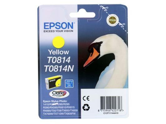 Картридж Epson Original T11144A10 (желтый) (замена T0814)  для R270/390/RX590 повышенной емкости