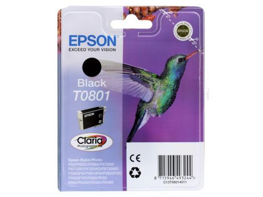 Картридж Epson Original T08014011 (черный) для P50/PX660 картридж epson original t08064011 светло пурпурный для p50 px660