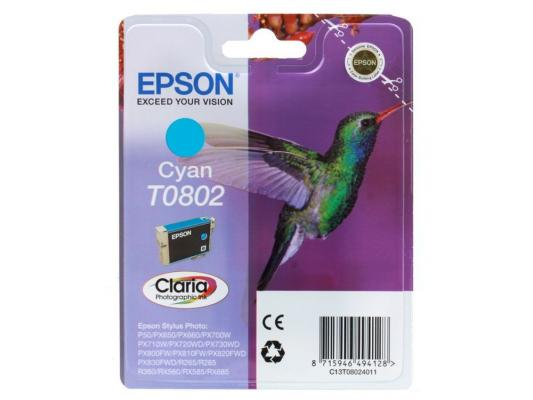 Картридж Epson Original T08024011 (голубой) для P50/PX660 original cc03main mainboard main board for epson l455 l550 l551 l555 l558 wf 2520 wf 2530 printer formatter