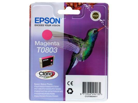 Картридж Epson Original T08034011 (пурпурный) для P50/PX660 картридж epson t009402 для epson st photo 900 1270 1290 color 2 pack