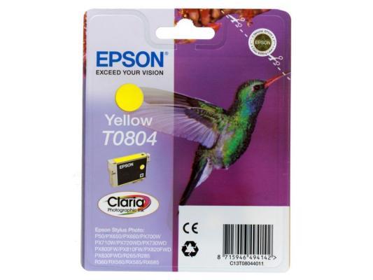 Картридж Epson Original T08044011 (желтый) для P50/PX660 картридж epson original t08064011 светло пурпурный для p50 px660