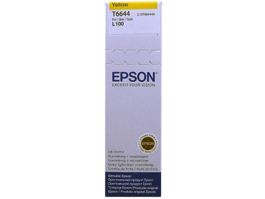 Картридж Epson Original T66444A (желтый) для L100 free shipping 20pcs lot 30f122 30g122 lcd new original